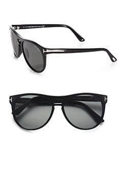 Tom Ford Eyewear - Callum Acetate Oval Sunglasses/Black