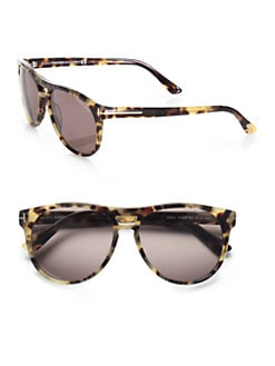 Tom Ford Eyewear - Callum Acetate Oval Sunglasses/Havana