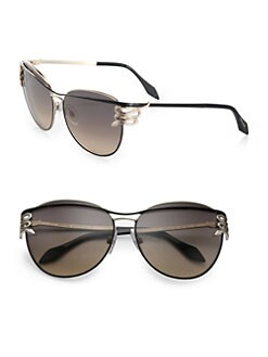 Roberto Cavalli - Mururoa Oversized Round Sunglasses