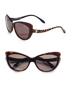Roberto Cavalli - Bandos Cat's-Eye Drop Temple Sunglasses