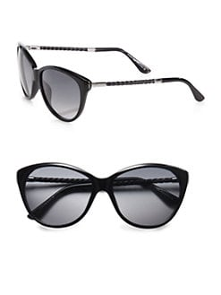 Tod's - Feminine Soft Cat's-Eye Sunglasses/Black