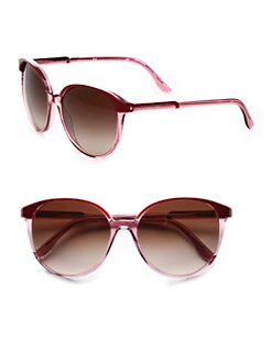 Stella McCartney - Tonal Round Plastic Sunglasses