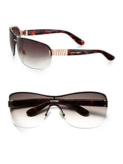 Jimmy Choo - Rimless Wrap Rectangular Shield Sunglasses