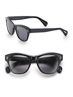 Oliver Peoples - Sofee Plastic Polarized Square Sunglasses/Black