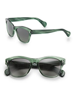 Oliver Peoples - Sofee Plastic Polarized Square Sunglasses/Green