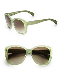 Alexander McQueen - Textured Plastic Cat's-Eye Sunglasses