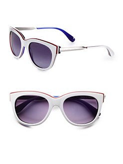 Marc by Marc Jacobs - Layered Plastic Modified Cat's-Eye Sunglasses
