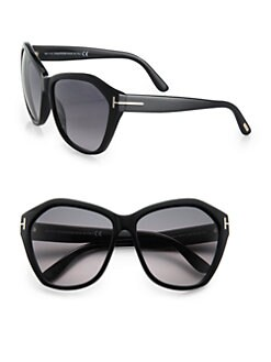 Tom Ford Eyewear - Angelina Oversized Acetate Sunglasses