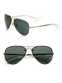 Ray-Ban - Aviator Sunglasses/Green