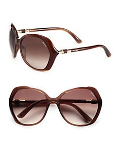Jimmy Choo - Glam Round Plastic Sunglasses
