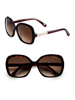 Jimmy Choo - Over-Sized Square Glam Plastic Sunglasses