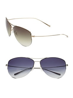Oliver Peoples - Strummer Titanium Aviator Sunglasses