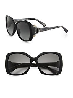 Lanvin - Swarovski Crystal Accented Oversized Square Sunglasses