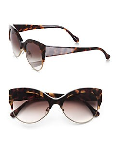 Elizabeth and James - Isabella Plastic & Metal Cat's-Eye Sunglasses