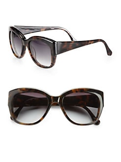 Elizabeth and James - Marion D-Frame Tortoiseshell Square Acetate Sunglasses