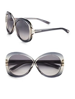 Tom Ford Eyewear - Margot Round Crossover Butterfly Sunglasses