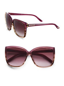 Tom Ford Eyewear - Lydia Oversized Wayfarer-Inspired Sunglasses