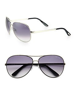 Tom Ford Eyewear - Charles Aviator Sunglasses/ Palladium