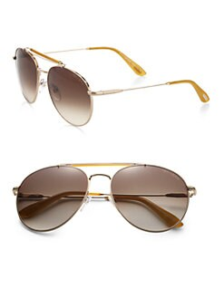 Tom Ford Eyewear - Colin Round Aviator Sunglasses