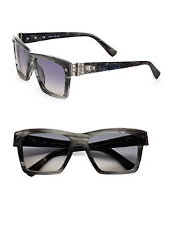 Lanvin - Swarovski Crystal Accented Wayfarer-Inspired Sunglasses
