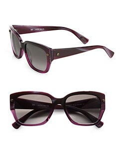 Lanvin - Resin Square Wayfarer-Inspired Sunglasses