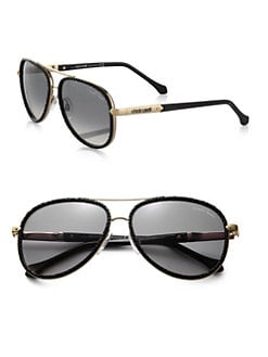 Roberto Cavalli - Adhafera Pebbled Aviator Sunglasses