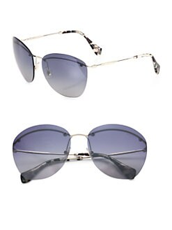 Miu Miu - Frameless Aviator Sunglasses