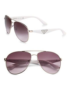 Prada - Top Bar Aviator Sunglasses