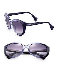 Alexander McQueen - Oversized Acetate Sunglasses