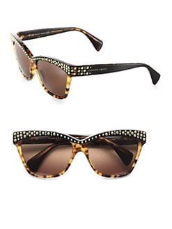 Alexander McQueen - Studded Acetate Cat's-Eye Sunglasses