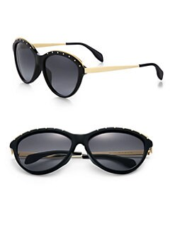 Alexander McQueen - Studded Two-Tone Acetate Sunglasses