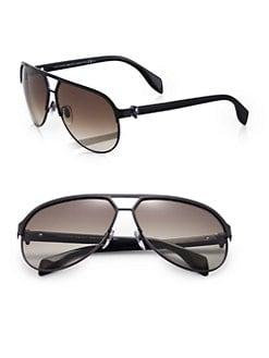 Alexander McQueen - Skull Metal Aviator Sunglasses