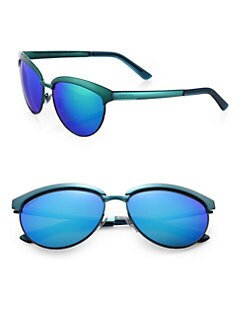 Gucci - Plastic & Metal Cat's-Eye Sunglasses