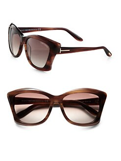 Tom Ford Eyewear - Lana Square Cat's-Eye Sunglasses/Brown