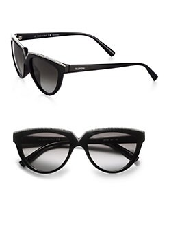 Valentino - Rhinestone Encrusted Cat's-Eye Sunglasses
