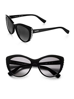 Valentino - Metal Studded Cat's-Eye Sunglasses