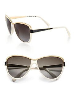 Fendi - Modified Metal Accented Round Sunglasses