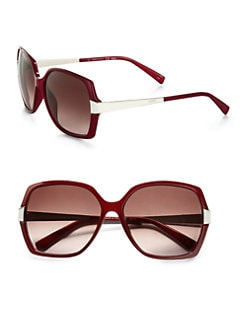 Fendi - Contrast Oversized Square Sunglasses