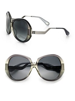 Diane von Furstenberg - Odette Oversized Round Sunglasses