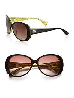 Diane von Furstenberg - Blaise Oversized Round Sunglasses