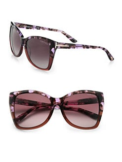 Tom Ford Eyewear - Carli Oversized Cat's-Eye Textured Acetate Sunglasses