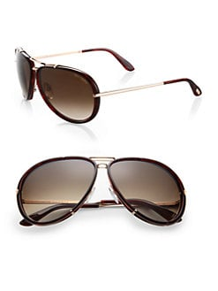 Tom Ford Eyewear - Cyrille Resin Aviator Sunglasses