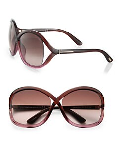 Tom Ford Eyewear - Sandra Crossover Square Sunglasses
