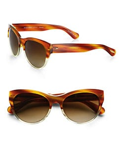 Oliver Peoples - Mande Acetate Round Sunglasses/Tortoise