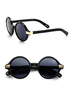 Elizabeth and James - Round Metal-Trim Plastic Sunglasses