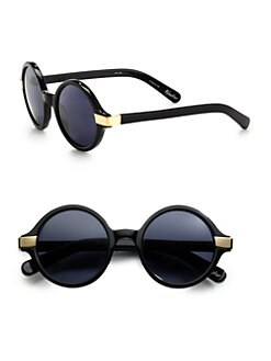 Elizabeth and James - Metal Accented Round Plastic Sunglasses