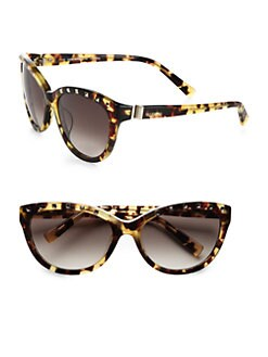 Valentino - Studded Star Cat's-Eye Sunglasses