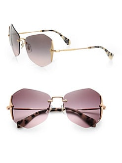 Miu Miu - Irregular Rimless Sunglasses