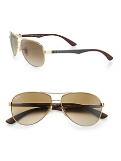 Ray-Ban - Pilot Aviator Sunglasses/Brown