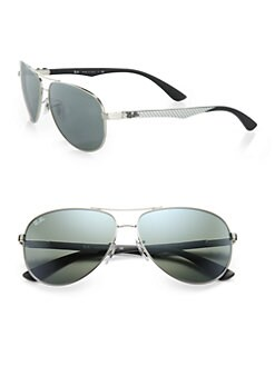 Ray-Ban - Pilot Double Bar Aviator Sunglasses